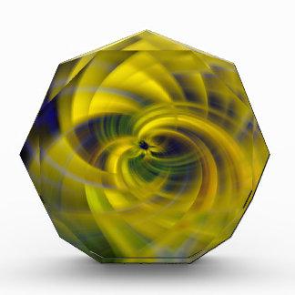Blue & Yellow Swirls Award