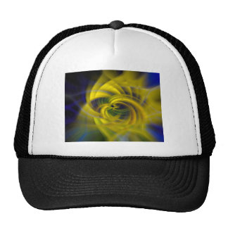 Blue & Yellow Swirls Trucker Hat