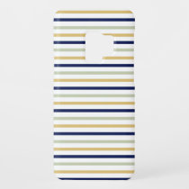 Blue, Yellow, Teal Striped Samsung S9 case