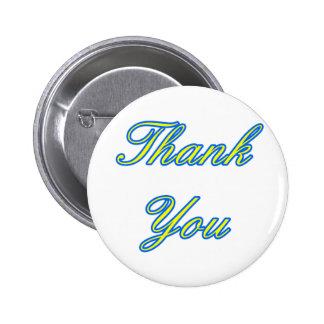 Blue Yellow Thank You Design The MUSEUM Zazzle Gif Pinback Button