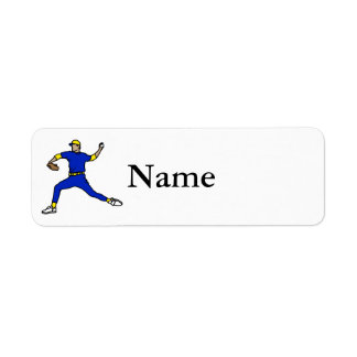 Blue Yellow Throwing Player Label