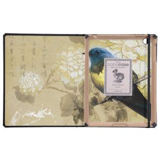 Blue Yellow Thrush Bird - Chinese Painting Art iPad Case