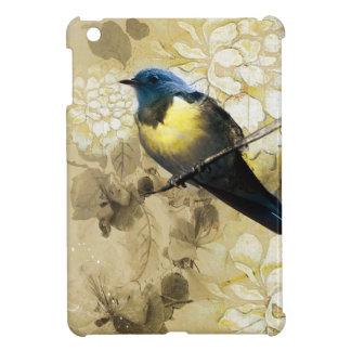 Blue Yellow Thrush Bird - Chinese Painting Art Case For The iPad Mini