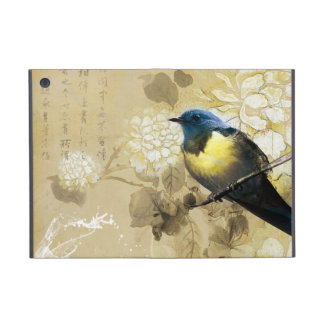 Blue Yellow Thrush Bird - Chinese Painting Art iPad Mini Case