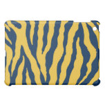 Blue/Yellow Tiger Stripe iPad Case