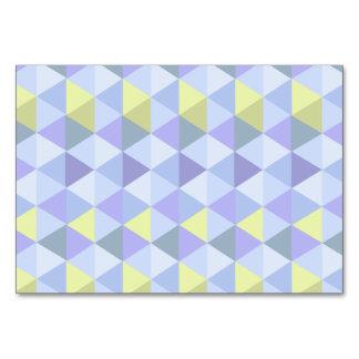 Blue yellow triangle pattern card