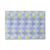 Blue yellow triangle pattern post-it notes
