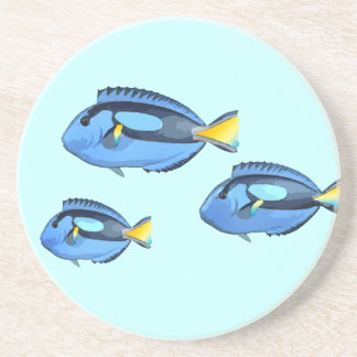 Blue & Yellow Tropical Fish Drink Coaster