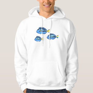 Blue & Yellow Tropical Fish Hoodie