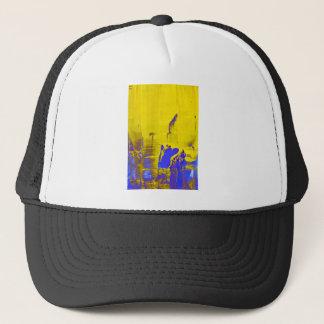 Blue yellow trucker hat