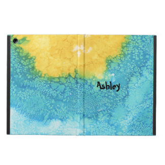 Blue/Yellow Watercolor Case For iPad Air