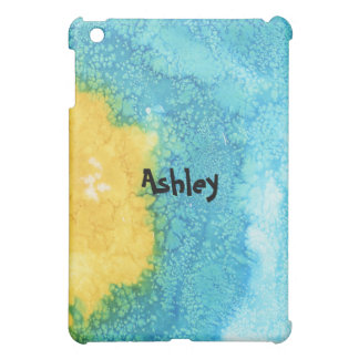 Blue/Yellow Watercolor Case For The iPad Mini