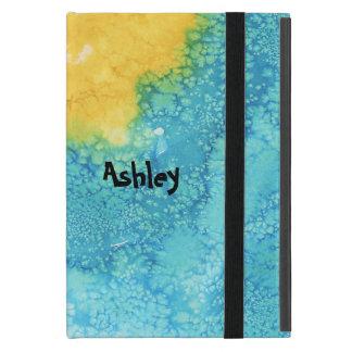 Blue/Yellow Watercolor Cover For iPad Mini