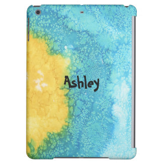 Blue/Yellow Watercolor iPad Air Covers