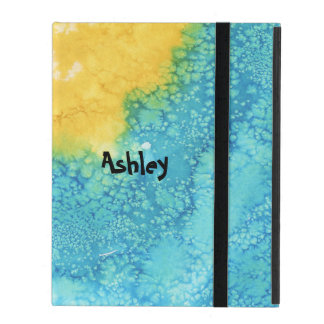 Blue/Yellow Watercolor iPad Cover