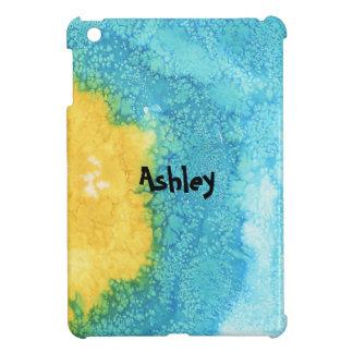 Blue/Yellow Watercolor iPad Mini Cases