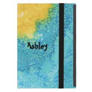 Blue/Yellow Watercolor iPad Mini Cover