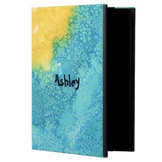 Blue/Yellow Watercolor Powis iPad Air 2 Case