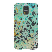 Blue & Yellow with Black Flowers Monoprint S5 case