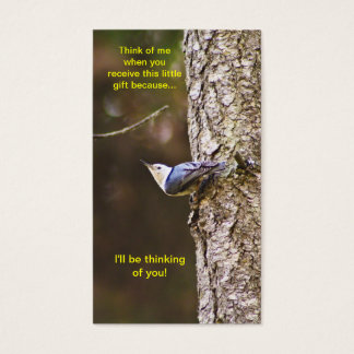 Blue & Yellow Woodpecker Bookmark Business Card