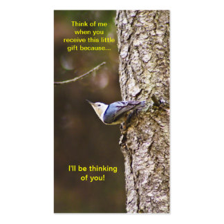 Blue & Yellow Woodpecker Bookmark Double-Sided Standard Business Cards (Pack Of 100)