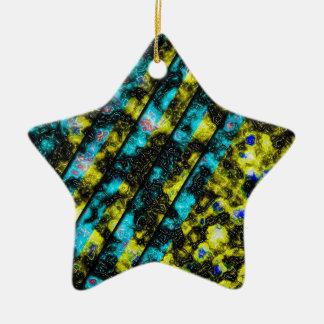 Blue-Yellow Wormstone Ornament