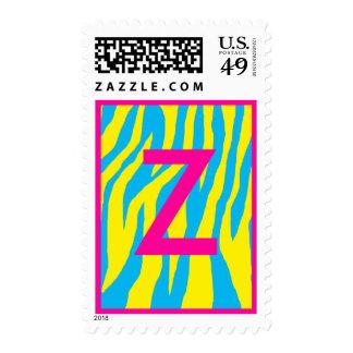 Blue & Yellow Zebra Postage