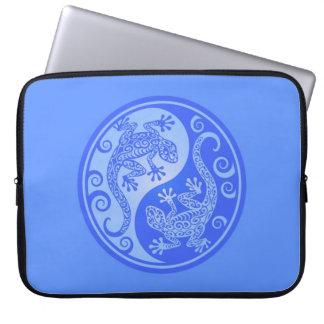 Blue Yin Yang Geckos Laptop Computer Sleeves