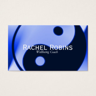 Blue yin yang health and wellbeing business card