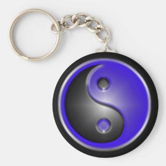 blue yin&yang keychain