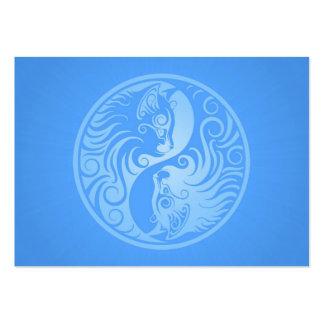 Blue Yin Yang Kittens Business Card Template