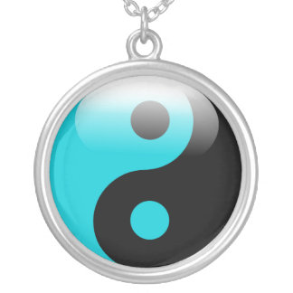 Blue Yin Yang necklace