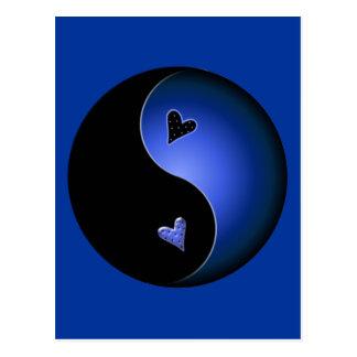 blue yin yang postcard