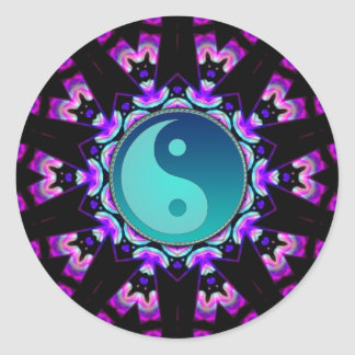 Blue Yin Yang Symbol UV-Delica Art Sticker