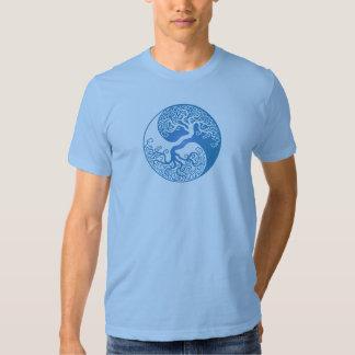 Blue Yin Yang Tree Tee Shirt