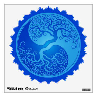 Blue Yin Yang Tree Wall Sticker