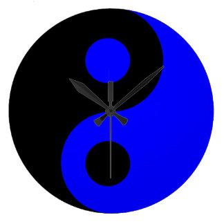 Blue Yin Yang Wall Clock