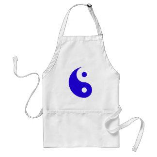 Blue Ying-Yang Adult Apron