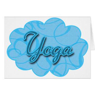 Blue Yoga Flourish Design Card