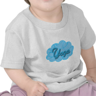 Blue Yoga Flourish Design T Shirt