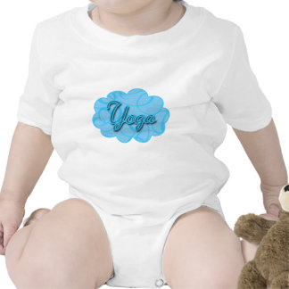 Blue Yoga Flourish Design T-shirt