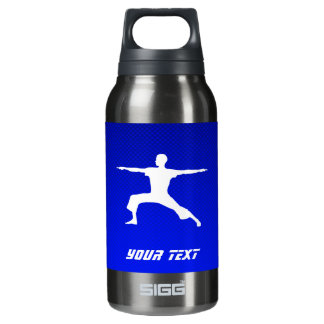 Blue Yoga Insulated Water Bottle