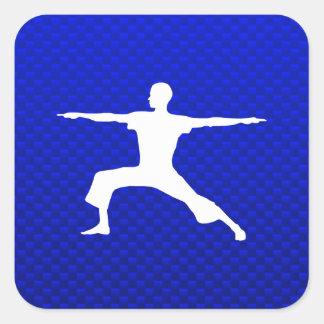 Blue Yoga Square Sticker