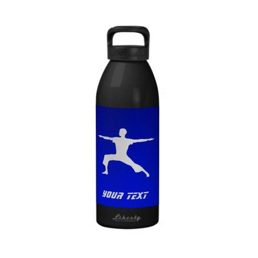 Blue Yoga Water Bottle