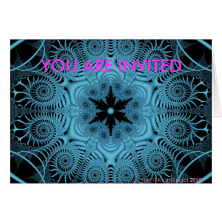 Blue YOU ARE INVITED Greeting Card