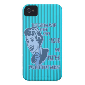 Blue Your and You're Blackberry Case
