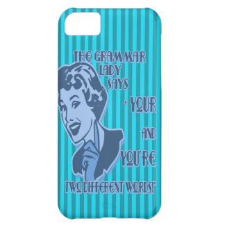 Blue Your and You're iPhone Case iPhone 5C Cover