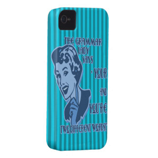 Blue Your and You're iPhone Case iPhone 4 Covers