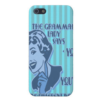 Blue Your and You're iPhone Speck Case
