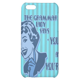 Blue Your and You're iPhone Speck Case Cover For iPhone 5C